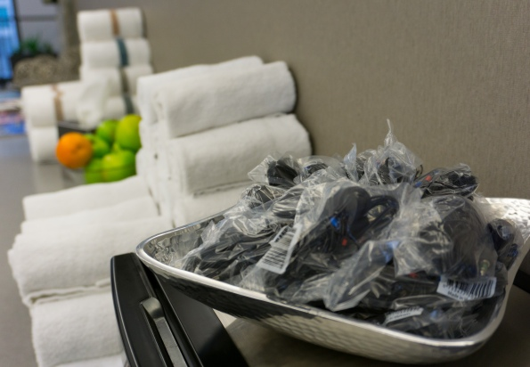 Headphones, fresh towels, complimentary snacks?!